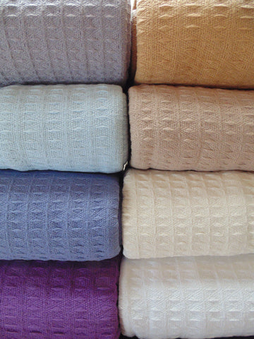 Classic Waffle Weave Cotton Thermal Blanket