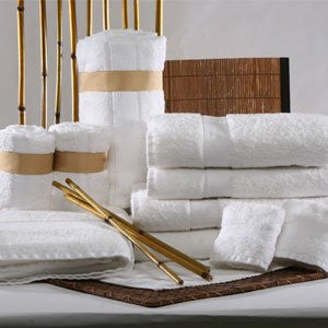 Wholesale Bamboo Bath Towel Set White - Save 10%