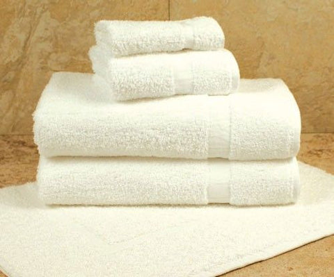 Touch Standard Bath Towels 100% Cotton White - CAM Border