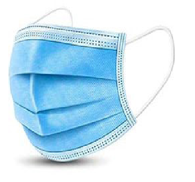 Disposable Face Mask - Blue Non Woven 3 Layer
