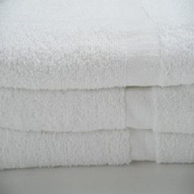 Economy Bath Mats 100% Cotton White - CAM Border