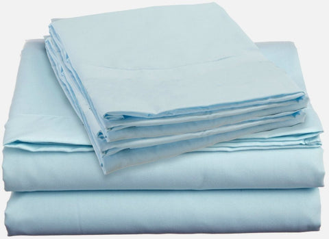 Wholesale Sheets   T180 Light Blue Fitted Sheets