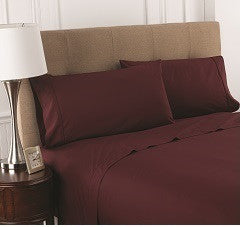 T200 Burgundy Fitted Sheets