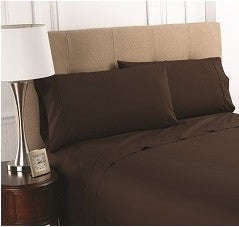 T200 Chocolate Fitted Sheets
