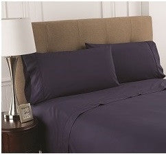 T200 Navy Fitted Sheets