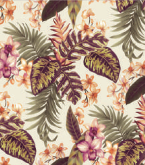 Retro Tropical Fall Napkins