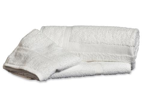 Standard Bath Towels Poly/Cotton Blend White