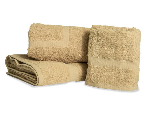 Standard Bath Towels Poly/Cotton Blend Beige