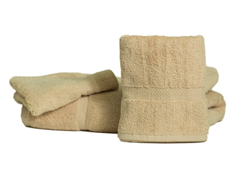 Royal Suite Premium Wash Cloths 100% Cotton Beige