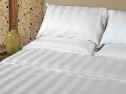 Wholesale Linens White Stripe Top Sheets