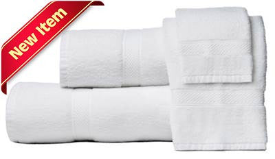 Decadence Luxury Hand Towels 100% Cotton White
