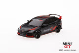 Mini GT 1:64 2017 Honda Civic Type R (FK8)(LHD)(Matte Black) Customer Racing Study - MiJo Exclusives