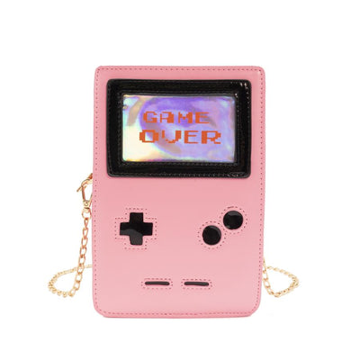 Retro 8-Bit Gamer Handbag Pink