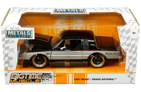 Jada 1:24 W/B - Metals - Bigtime Muscle - 1987 Buick Grand National (Black/Silver) - Ferrara Market Inc.