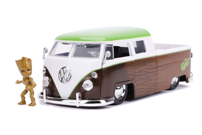 HOLLYWOOD RIDES – 1963 VW BUS TRUCK W/GROOT 1:24