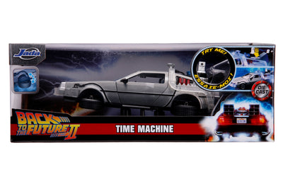 HOLLYWOOD RIDES – BACK TO THE FUTURE PART II – TIME MACHINE W/LIGHT 1:24 - Ferrara Market Inc.