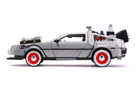 HOLLYWOOD RIDES – BACK TO THE FUTURE PART III – TIME MACHINE w/LIGHT  1:24