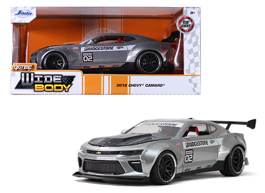 Jada 1:24 Window Box - Bigtime Muscle Widebody 2016 Chevrolet Camaro SS Bridgestone (Silver)