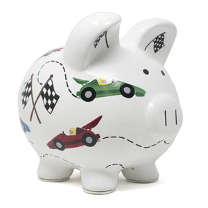Vroom Race Car Piggy Bank