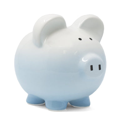 Blue Ombre Piggy Bank