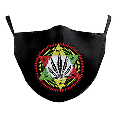 MARIJUANA FACE MASK IN POLYESTER MATERIAL