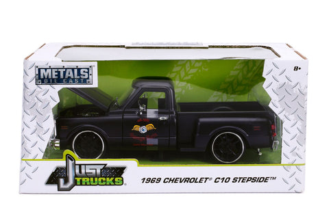 Just Trucks – 1969 Chevy C10 – Primer Black 1/24 - Ferrara Market Inc.