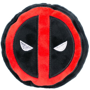 DOG TOY SQUEAKY PLUSH - DEADPOOL LOGO BLACK/RED/WHITE - Ferrara Market Inc.