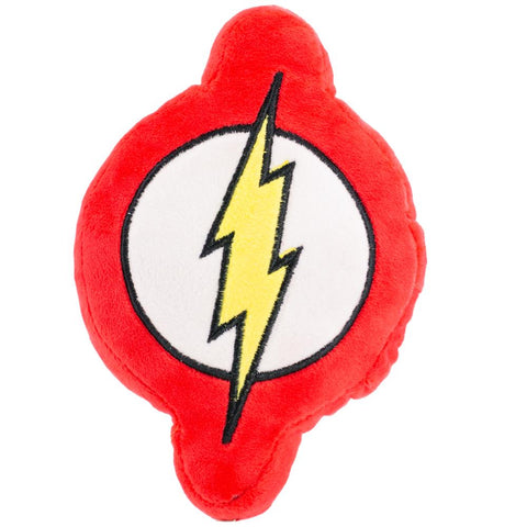 DOG TOY SQUEAKY PLUSH - FLASH ICON RED/WHITE/YELLOW - Ferrara Market Inc.