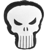 DOG TOY SQUEAKY PLUSH - PUNISHER LOGO4 BLACK/WHITE - Ferrara Market Inc.