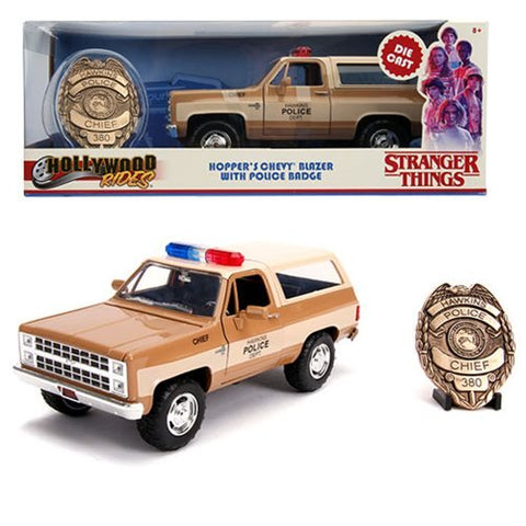 Hollywood Rides Stranger Things 1980 Chevy Blazer 1:24 Scale Die-Cast Metal Vehicle with Badge
