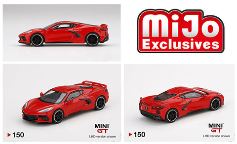 Mini GT 1:64 MiJo Exclusives - 2020 Chevrolet Corvette Stingray - Torch Red LHD