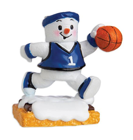 MM20002-B - Marshmallow Basketball Player (Boy) Personalized Christmas Ornament