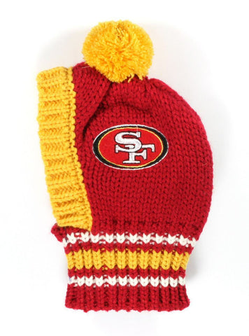NFL KNIT PET HAT - 49ERS