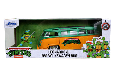 HollywoodRides TMNT 1/24 Leonardo 1962 Volkswagen Bus Yellow Green