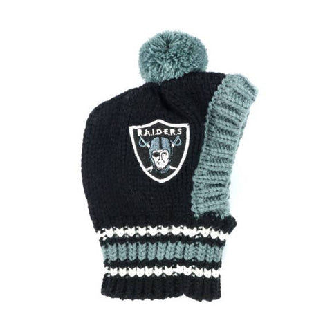 NFL Pet Knit Hat - Raiders - Ferrara Market Inc.