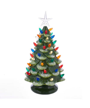 Ceramic LED Christmas Tree Table Piece