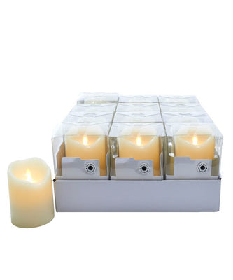 Battery-Operated Flicker Flame White LED Candle