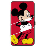HINGED WALLET - MICKEY MOUSE CLASSIC POSE + THE TRUE ORIGINAL STRIPE RED WHITE YELLOW - Ferrara Market Inc.