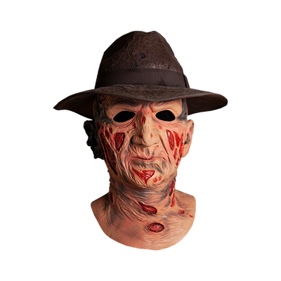 A NIGHTMARE ON ELM STREET - DELUXE FREDDY KRUEGER MASK WITH FEDORA HAT
