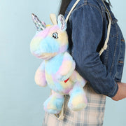 Plushie Heart Unicorn Backpack - Blue