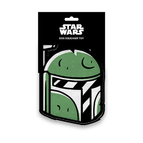 DOG TOY SQUEAKY PLUSH - STAR WARS BOBA FETT HEAD - Ferrara Market Inc.