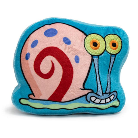 DOG TOY SQUEAKY PLUSH - SPONGEBOB SQUAREPANTS GARY THE SNAIL SMILING