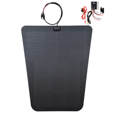 VSS System hood solar panel for 3rd gen toyota tacoma MPPT charge controller semi flexible overland panel