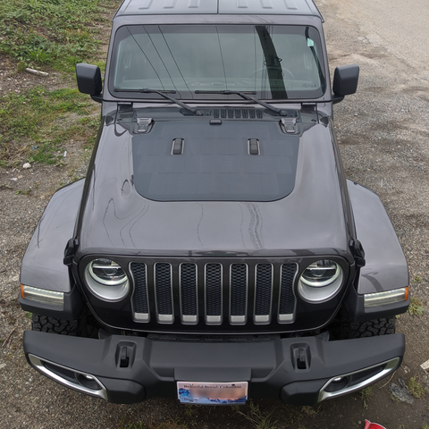 Cascadia 4x4 hood solar panel for jeep JL wrangler
