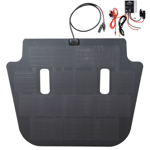 Jeep wrangler JL vss system hood solar panel by cascadia 4x4 with MPPT charge controller