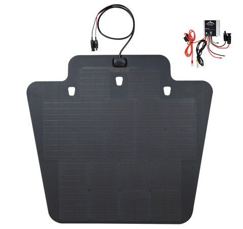 Jeep Wrangler JK hood solar panel cascadia 4x4 MPPT charge controller plug and play