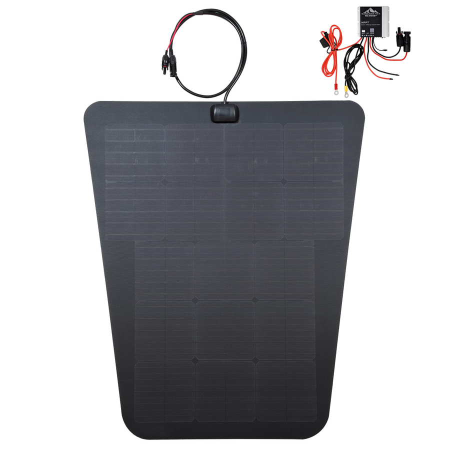 Cascadia 4x4 vss system semi flexible solar panel for overland travel toyota tacoma