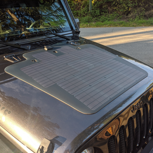 hood solar panel on jeep JK