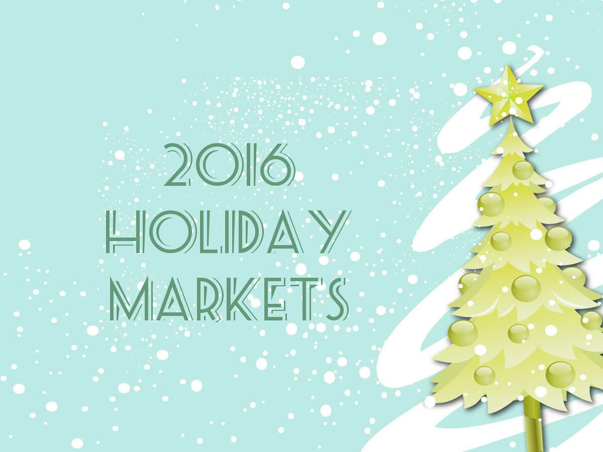 Vintage Glassware Holiday 2016 Markets & Events