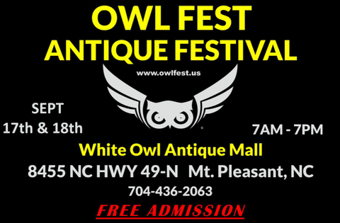 3rd annual owlfest antique festival flyer